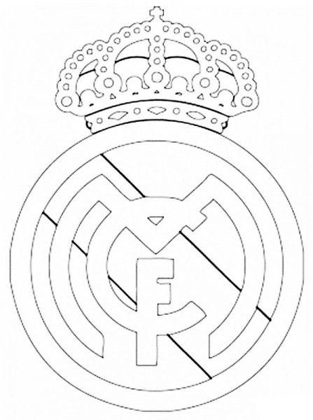 Imagenes De El Escudo Del Real Madrid Para Colorear Escudo Del Real Madrid Páginas Para Colorear Real Madrid
