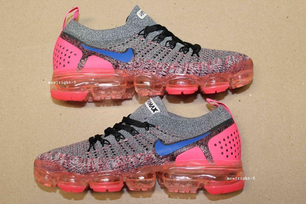 new concept e55ff b0fe3 Women's Nike Air VaporMax Flyknit 2 Size 8 Pink Gray Blue ...