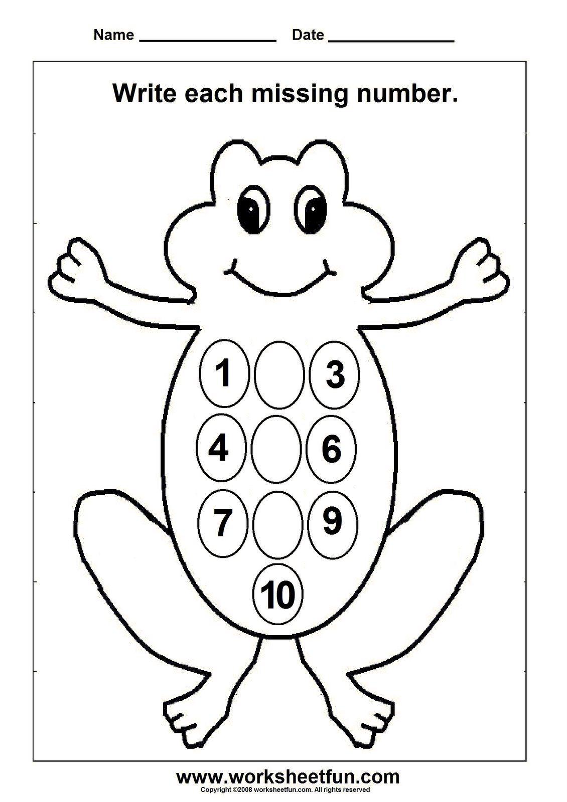 Kindergarten Numbers Worksheets | Kiduls Printable | Worksheets ...