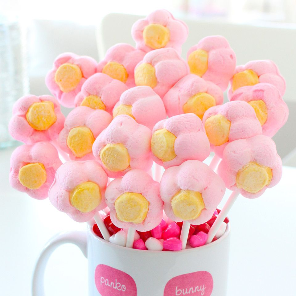 Marshmallow Flower Bouquet | Recipe | Marshmallow flowers ...