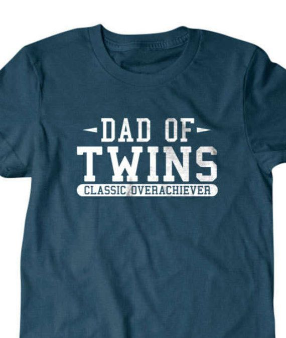 cc59833f Twins T-shirt, Dad of twins Funny T shirt, surprise pregnancy gift for dad, Funny  T Shirts for Men,