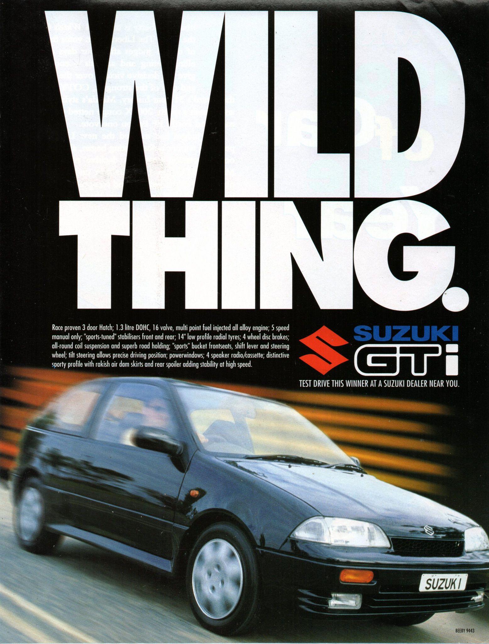 1994 Suzuki Swift GTi 3 Door Hatchback Aussie Original
