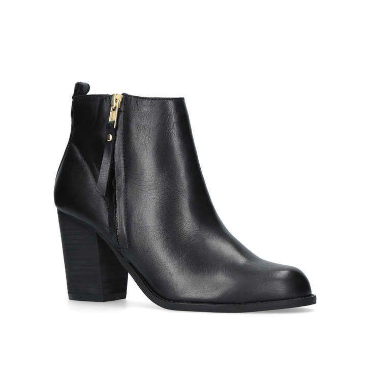 Tanga Black Mid Heel Ankle Boots By Carvela Kurt Geiger | Kurt Geiger