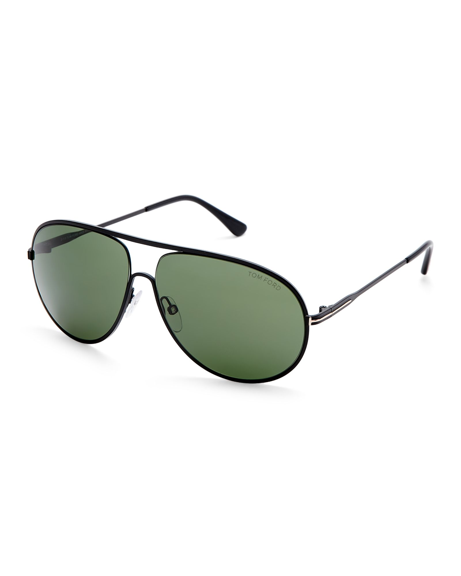 fdd1a3d777f4 Tom Ford TF450 Black Cliff Aviator Sunglasses Tom Ford