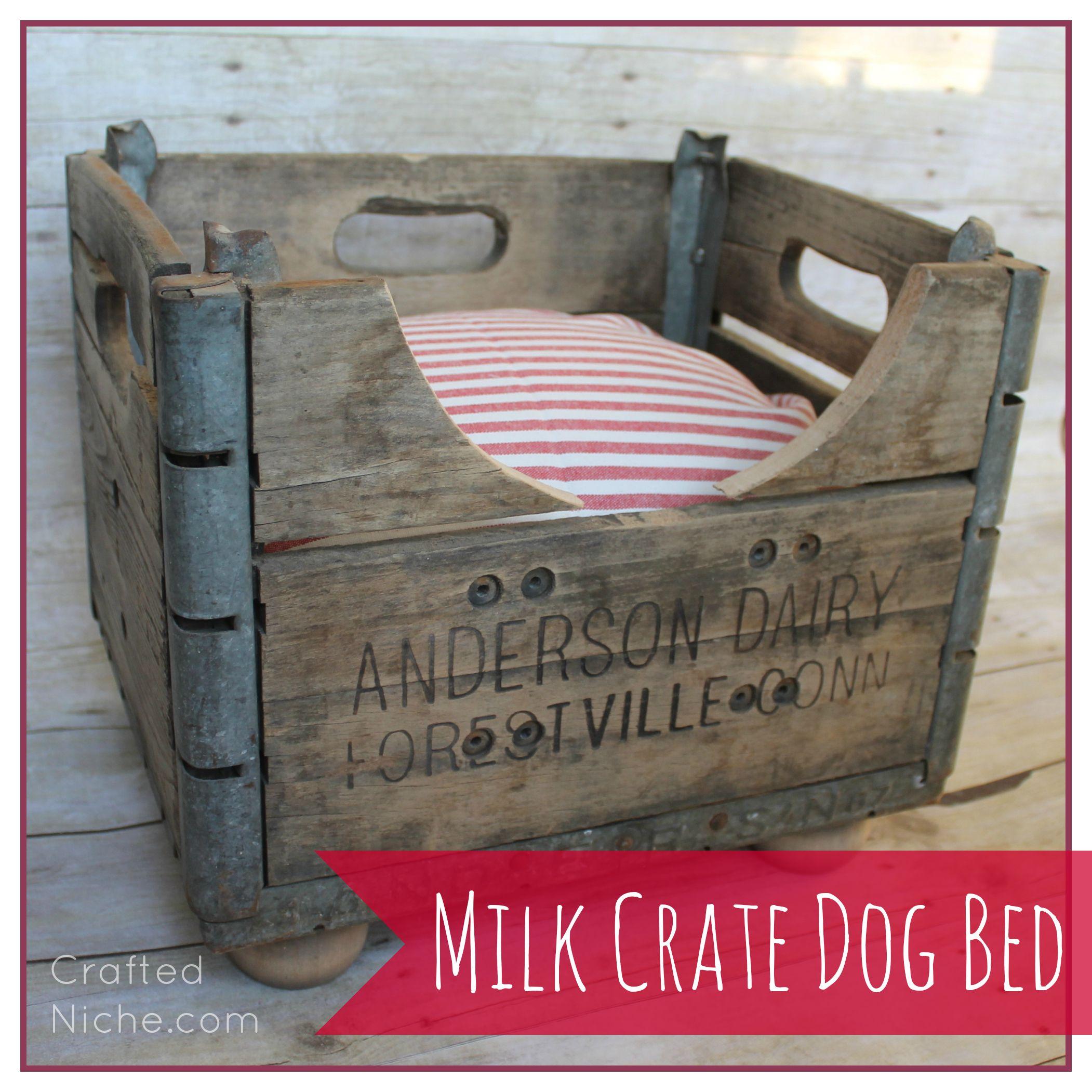 milk crate dog bed square