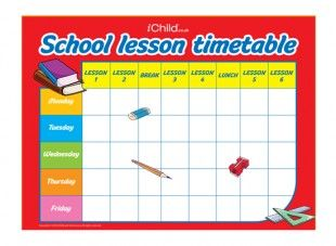Print Off Our Back To School Lesson Timetable So Your Child Can