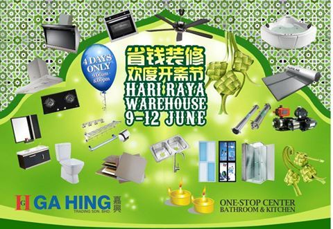 Ga Hing Hari Raya Warehouse Sale In Malaysia Warehouse Sales Sale Shower Screen