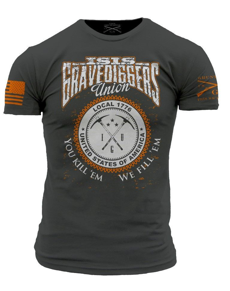 fc0a3a34d92f Star Spangled 1776 - ISIS Gravediggers T-Shirt- Grunt Style Men's Short  Sleeve Tee Shirt