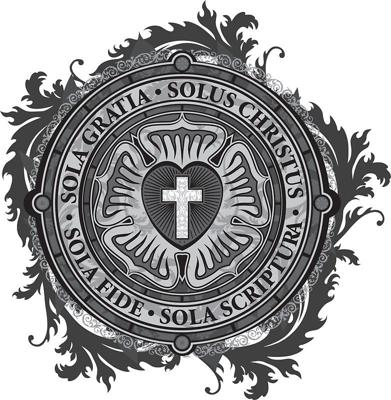 Luther Rose Christian Luther Seal Sticker By Carl Huber Ideas