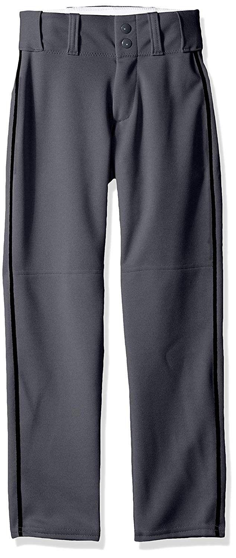 Open Bottom Baseball Pants w/Braid - Charcoal/Black - CY12H3LL31Z - Sports & Fitness Clothing, Men,...