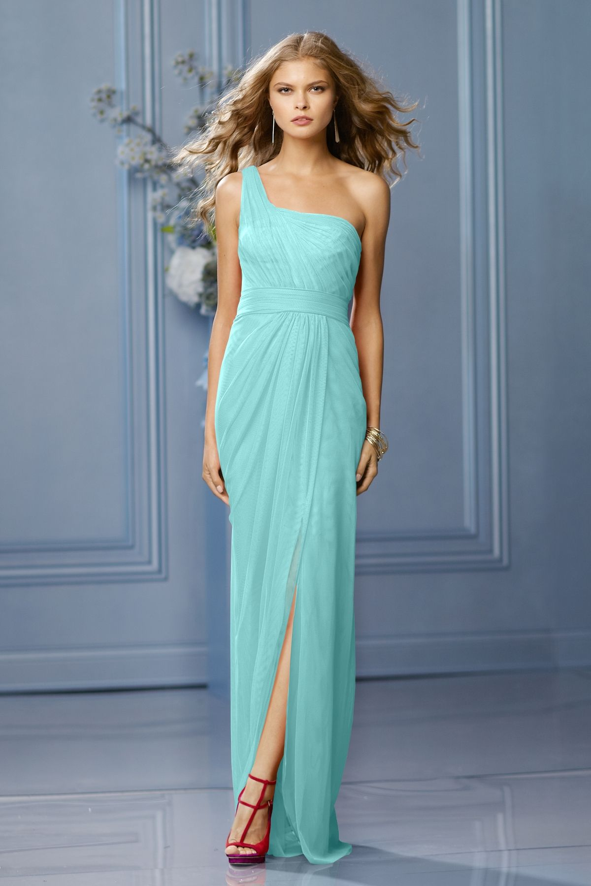 Wtoo bridesmaid dress weddington way in ocean blue wedding