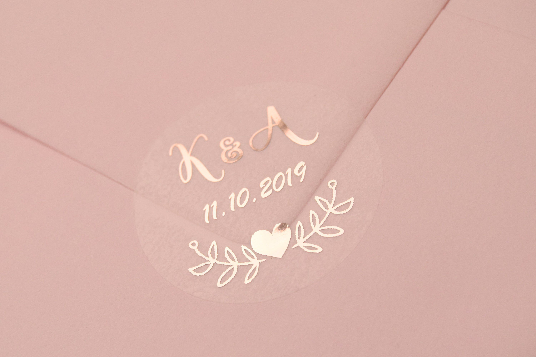 Confetti stickers Transparent personalise Gold SilverRose Gold foil Wedding