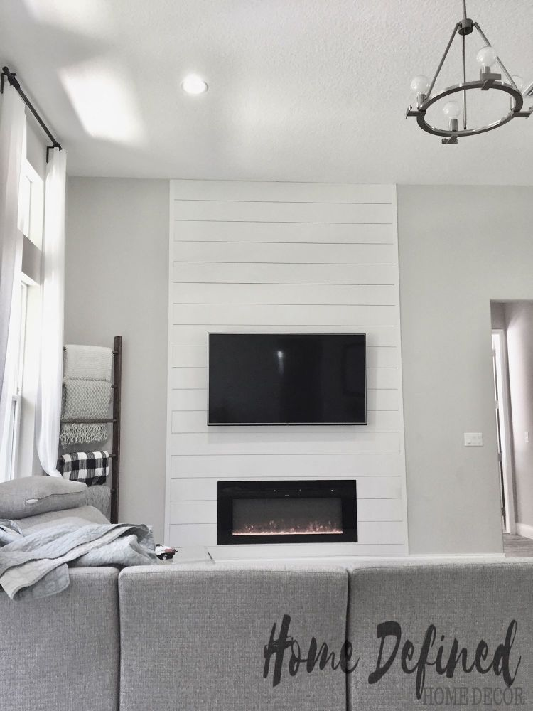 How To Make A Diy Shiplap Accent Wall Accent Walls In Living Room Living Room With Fireplace Shiplap Accent Wall