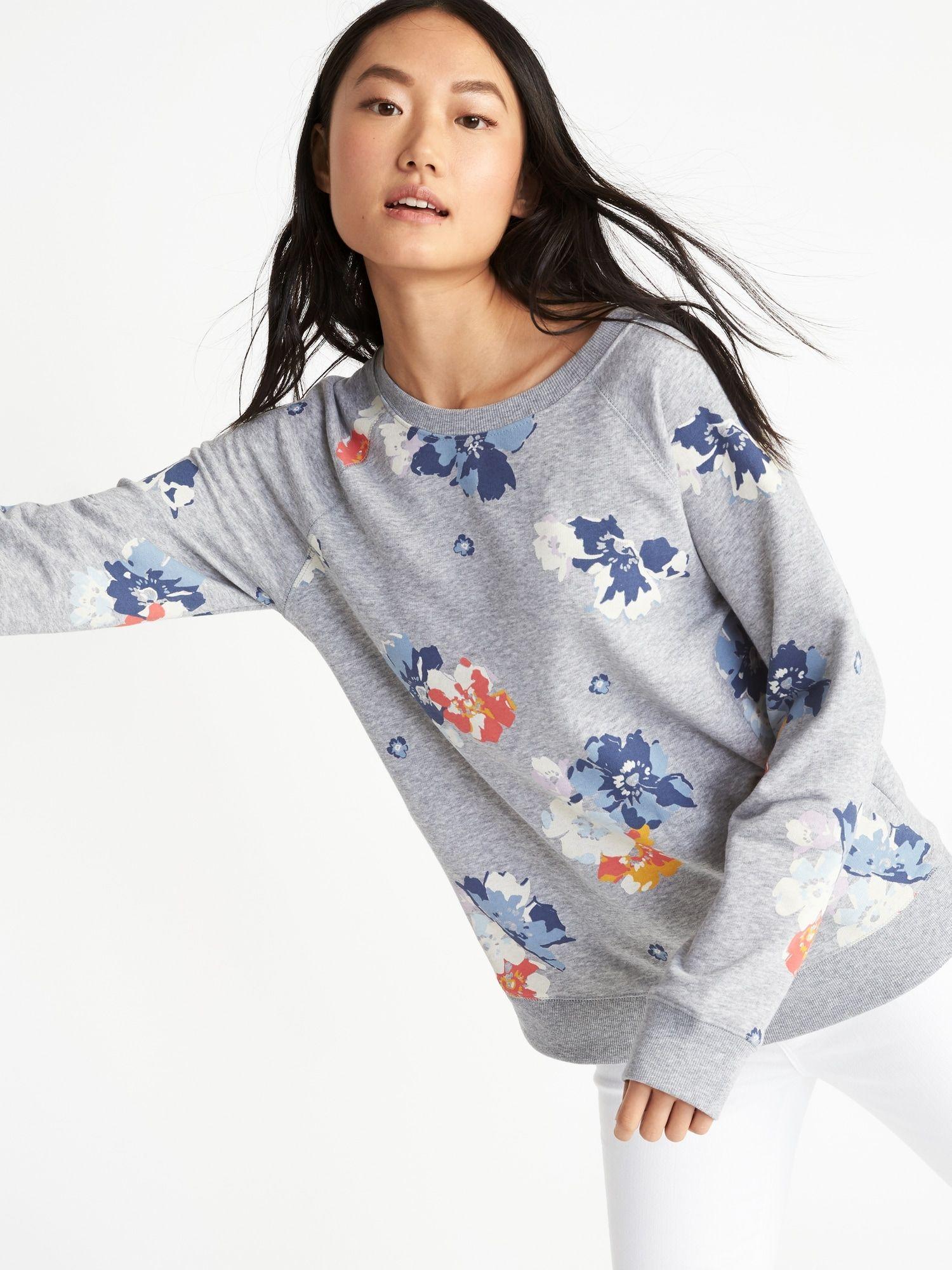 b71595ccf19863 Relaxed Vintage Fleece Sweatshirt for Women