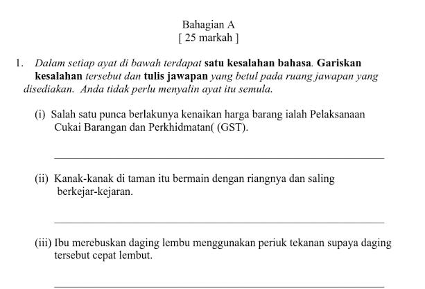 Soalan Ppt Bahasa Melayu Format Kssm Tingkatan 1 My School Ppt I School Format