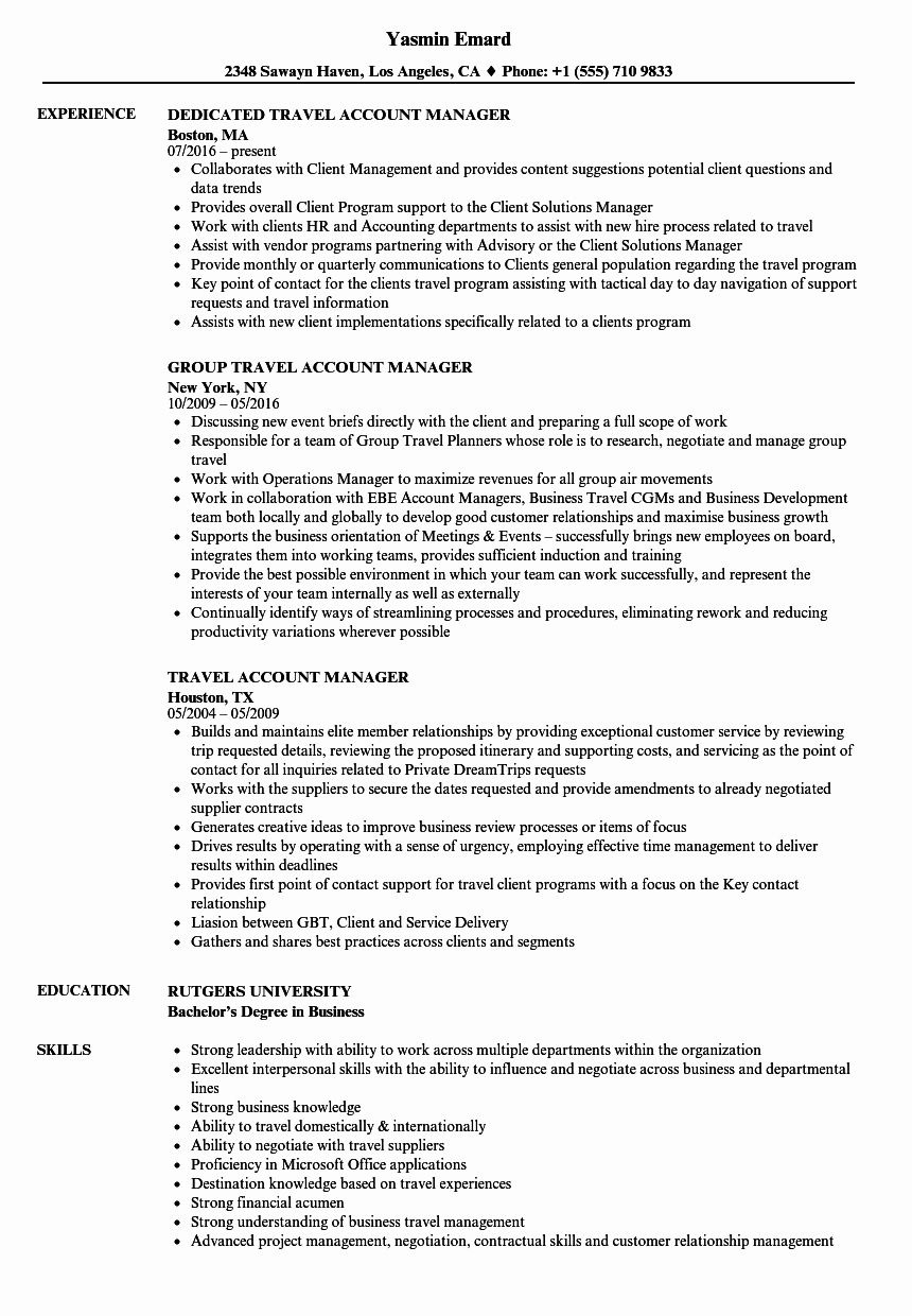 23 Account Manager Resume Example in 2020 Resume
