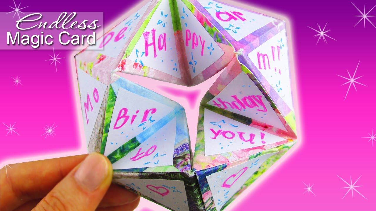 Diy Endless Card 3d Gift Card Tutorial Diy Unique Cards