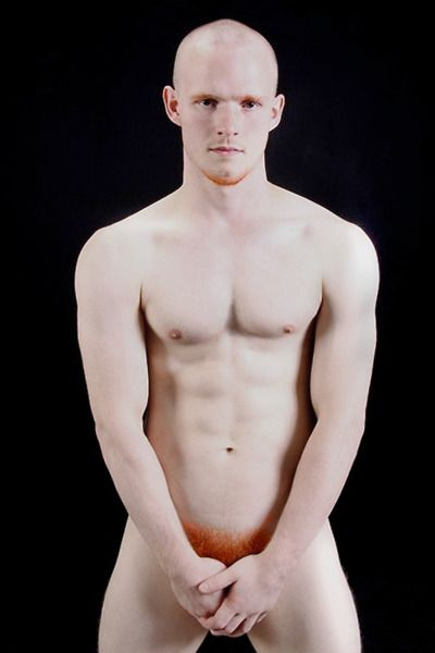 Naked ginger male, amateur nudist