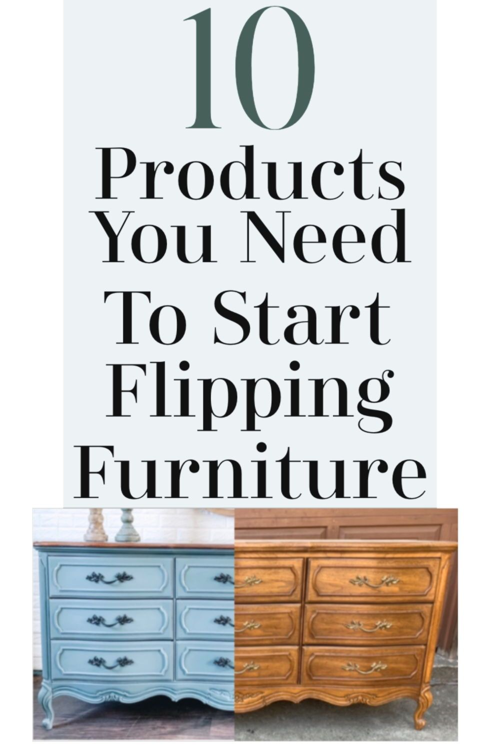 Learn How Paint Furniture For Profit