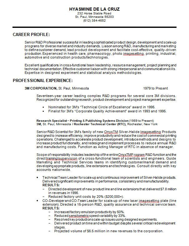 10 Samples Of Professional Resume Formats You Can Use In Job   Sample Resume  Forms  Resume Forms