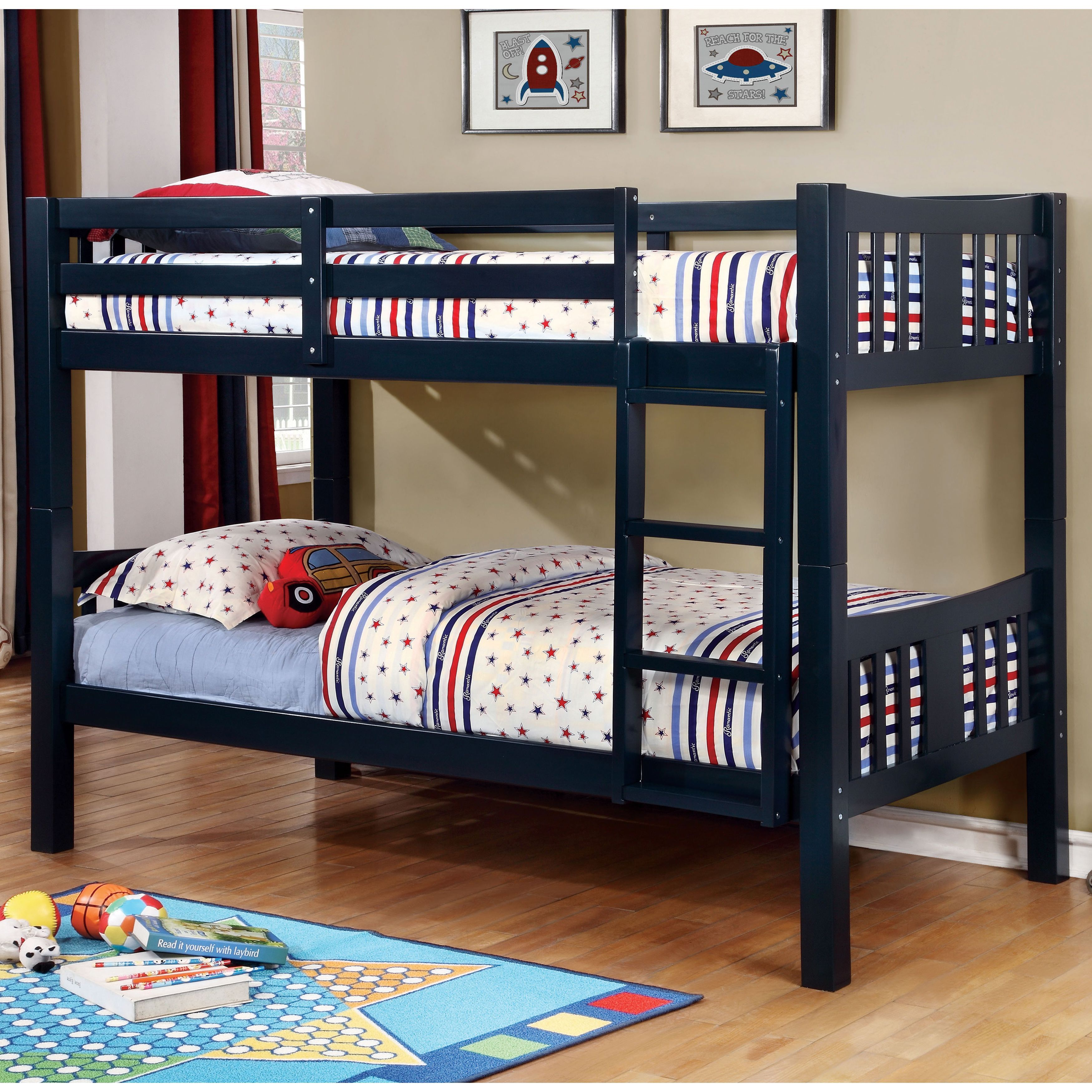Furniture of America Pello Twin over Twin Bunk Bed by Furniture of