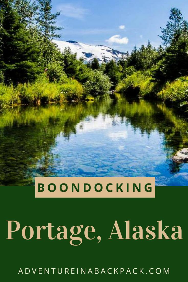 Free Dispersed Campsite near Portage Glacier in Alaska ...