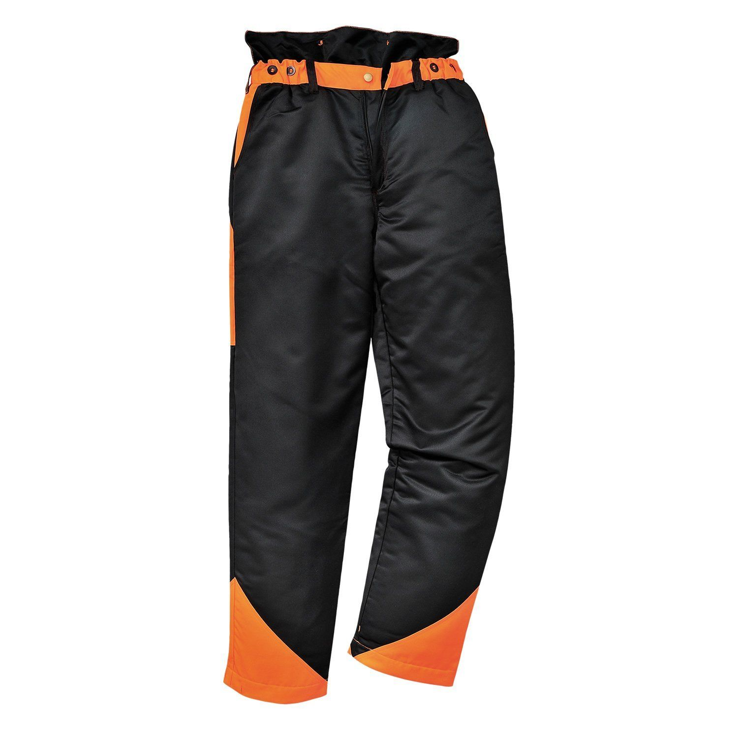Mens portwest Black Safety Work Trousers