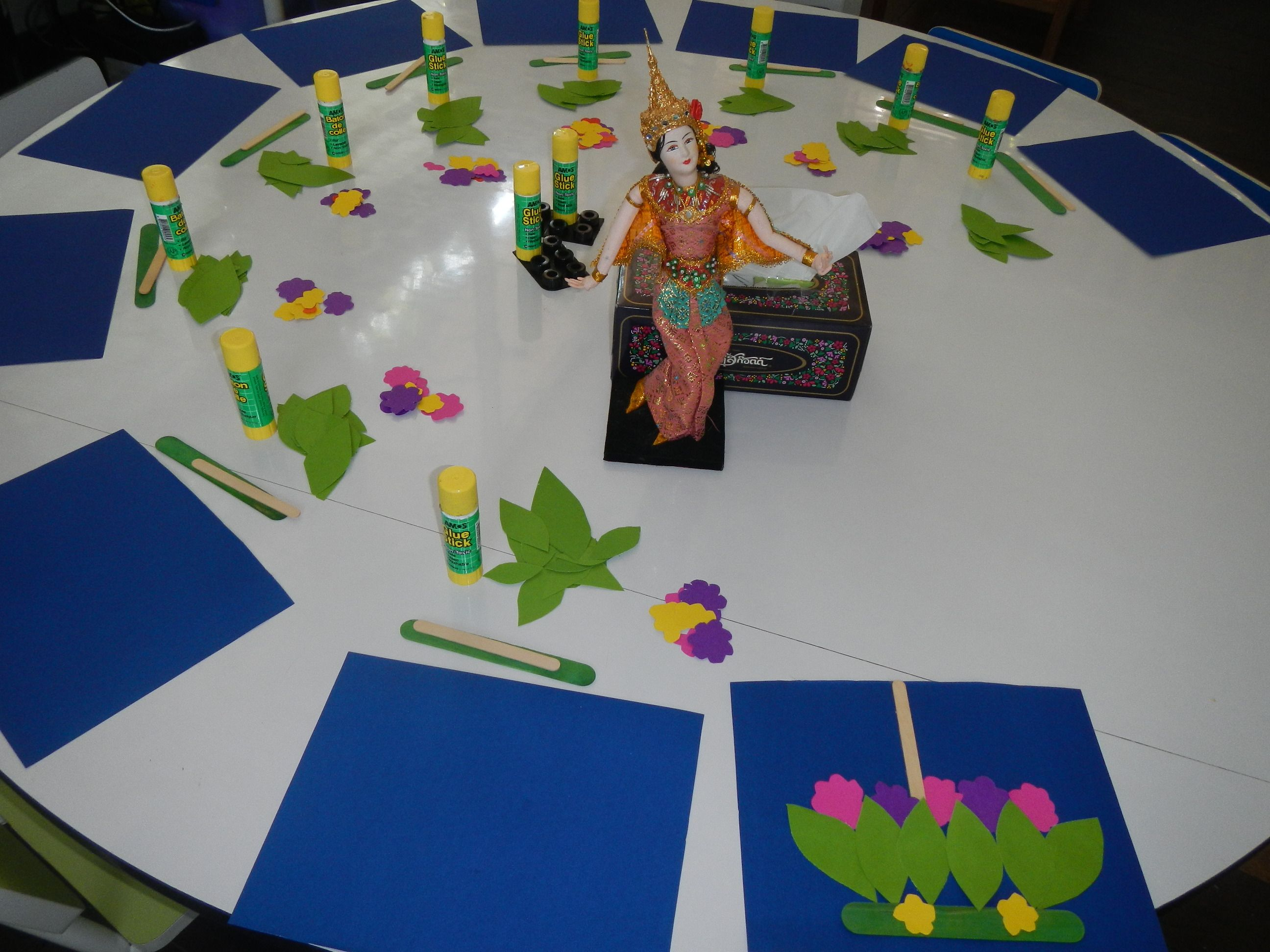 Craft Celebrating Loy Krathong In Thailand. Preschool Easy Crafts Thailand Art