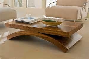 table basse bois massif moderne