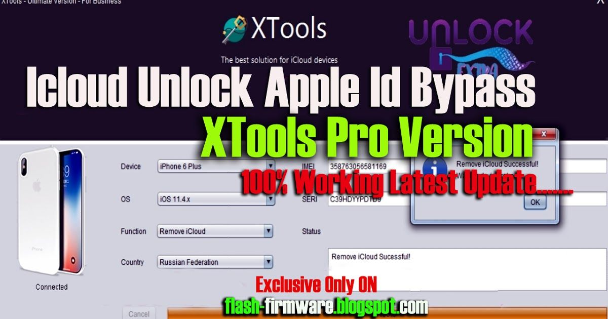 Download Icloud Unlock Apple Id Bypass XTools Pro Version Feature: I