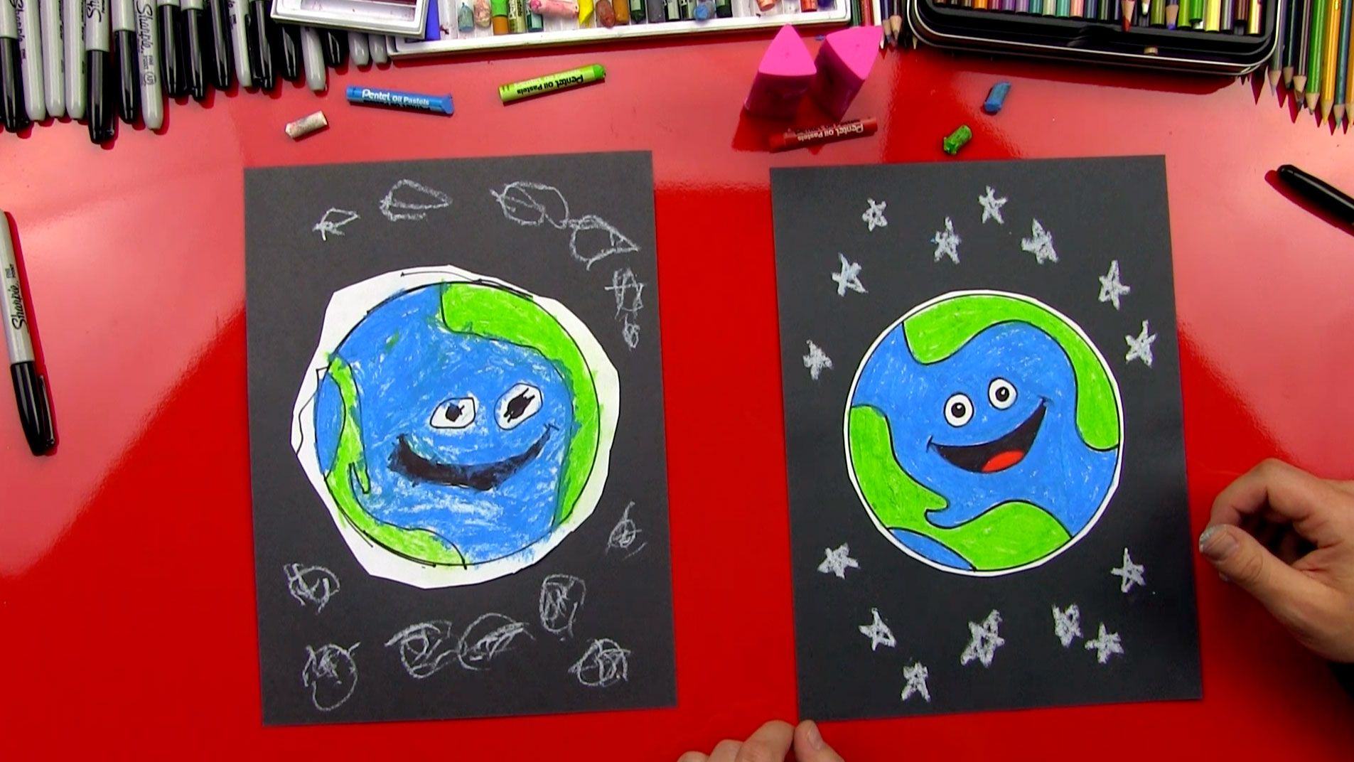 How To Draw Earth For Young Artists Art For Kids Hub Art For Kids Hub Earth Drawings Art For Kids