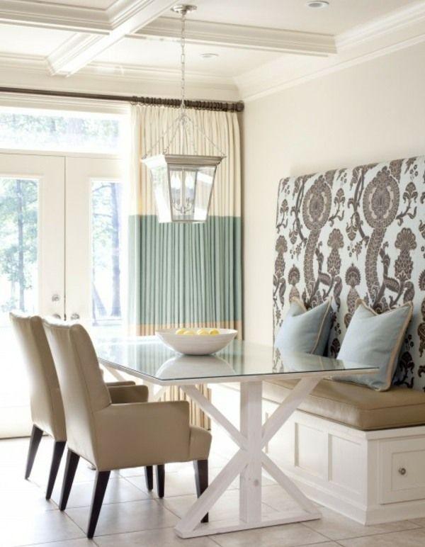 belederte beige sitzbank-stühle-küche | wohnideen | pinterest