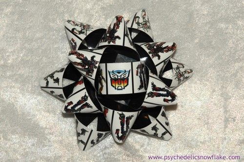Psychedelic Snowflake Objets d'Art - Transformers Gift Bow