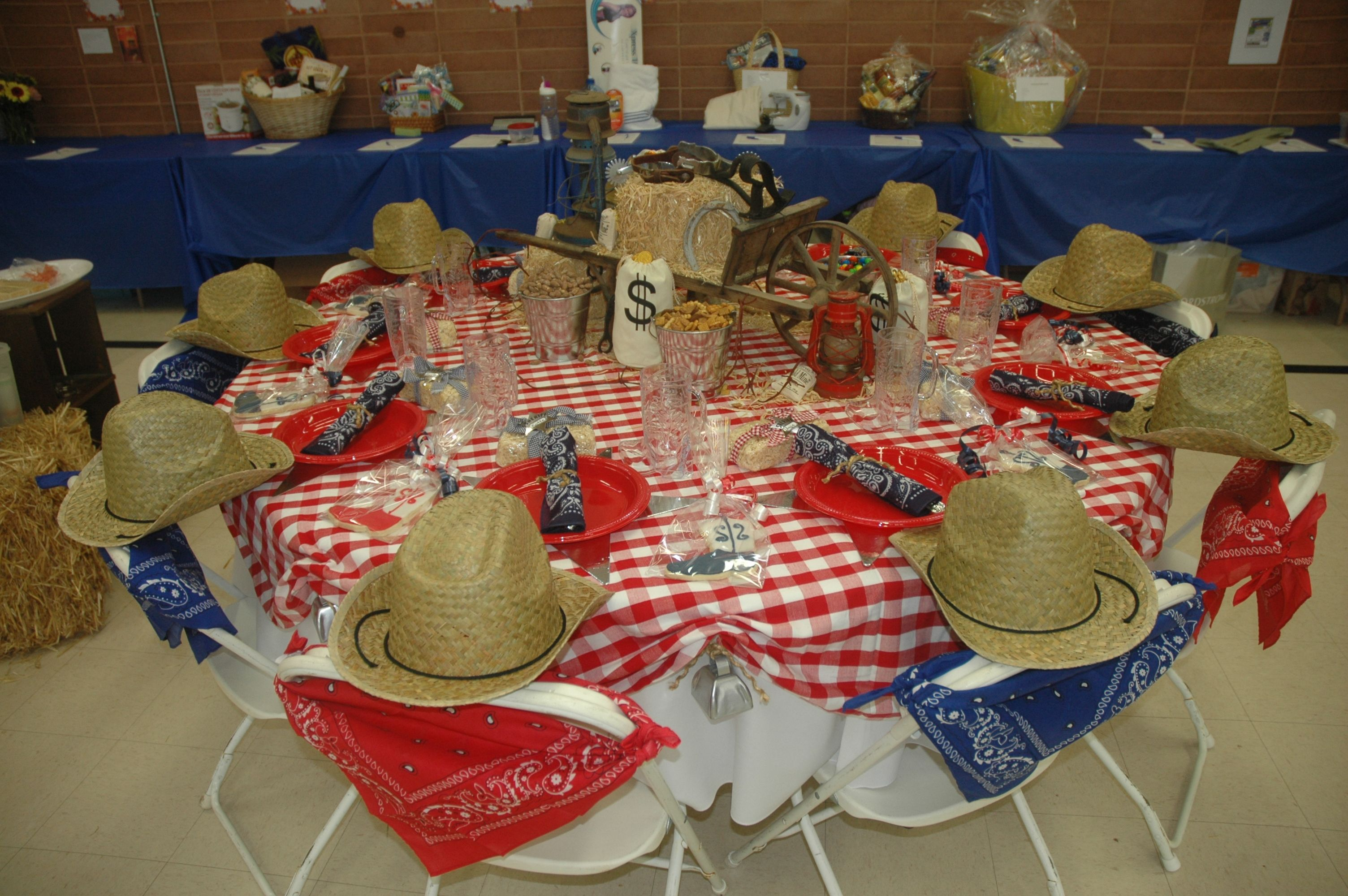 Country themed table for our ladies luncheon great