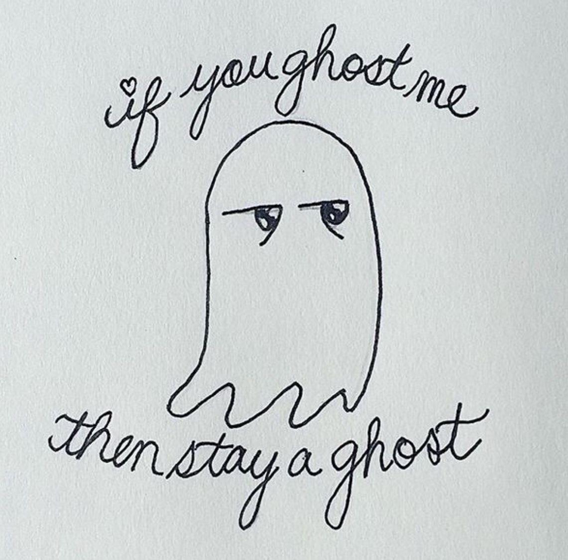 Kawaii Doodle Digital Art Cute Ghost Ghosting Tinder Comic Funny Dating Meme Humor Drawing Funny Dating Quotes Funny Comics Dating Humor