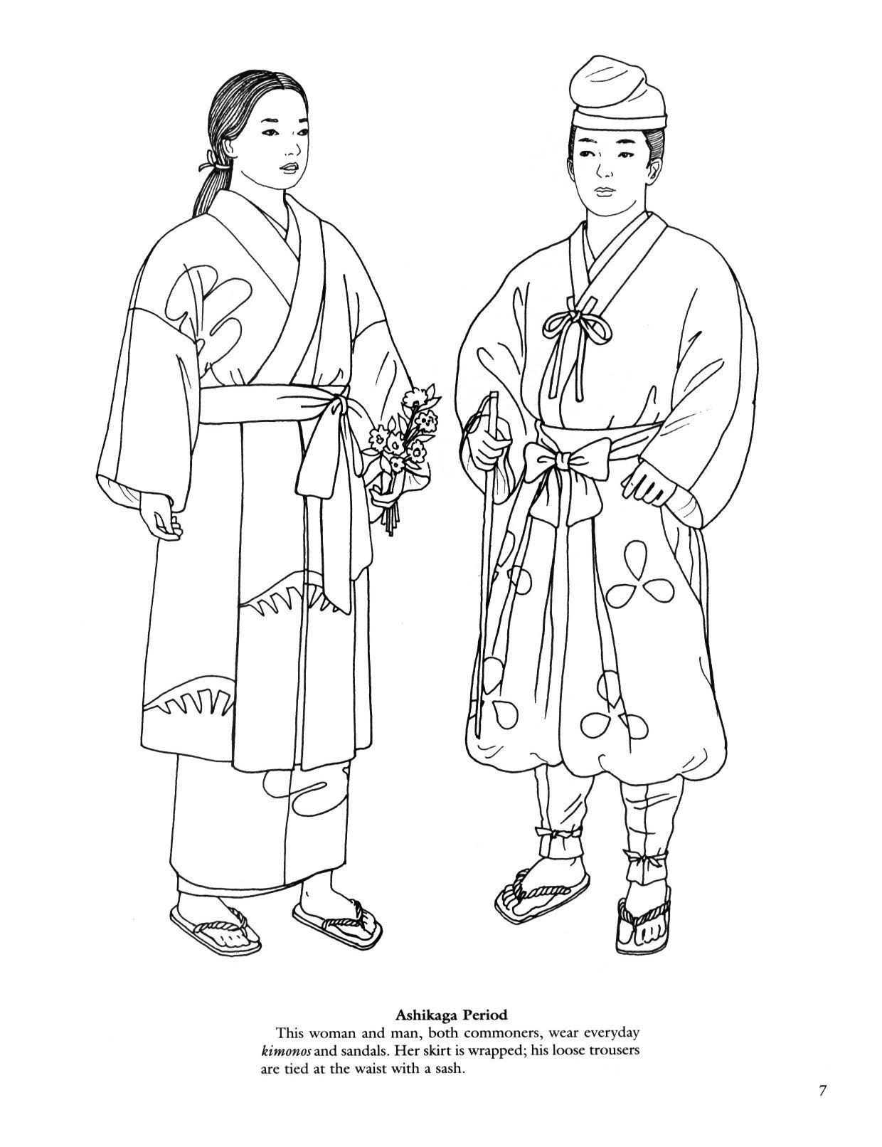 Japanese Fashions Coloring Book Coloring Pages To Print