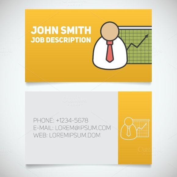 Business card print template. Vector @creativework247
