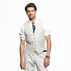 Suit vest in fine-stripe cotton. love this even more. perfect for ...