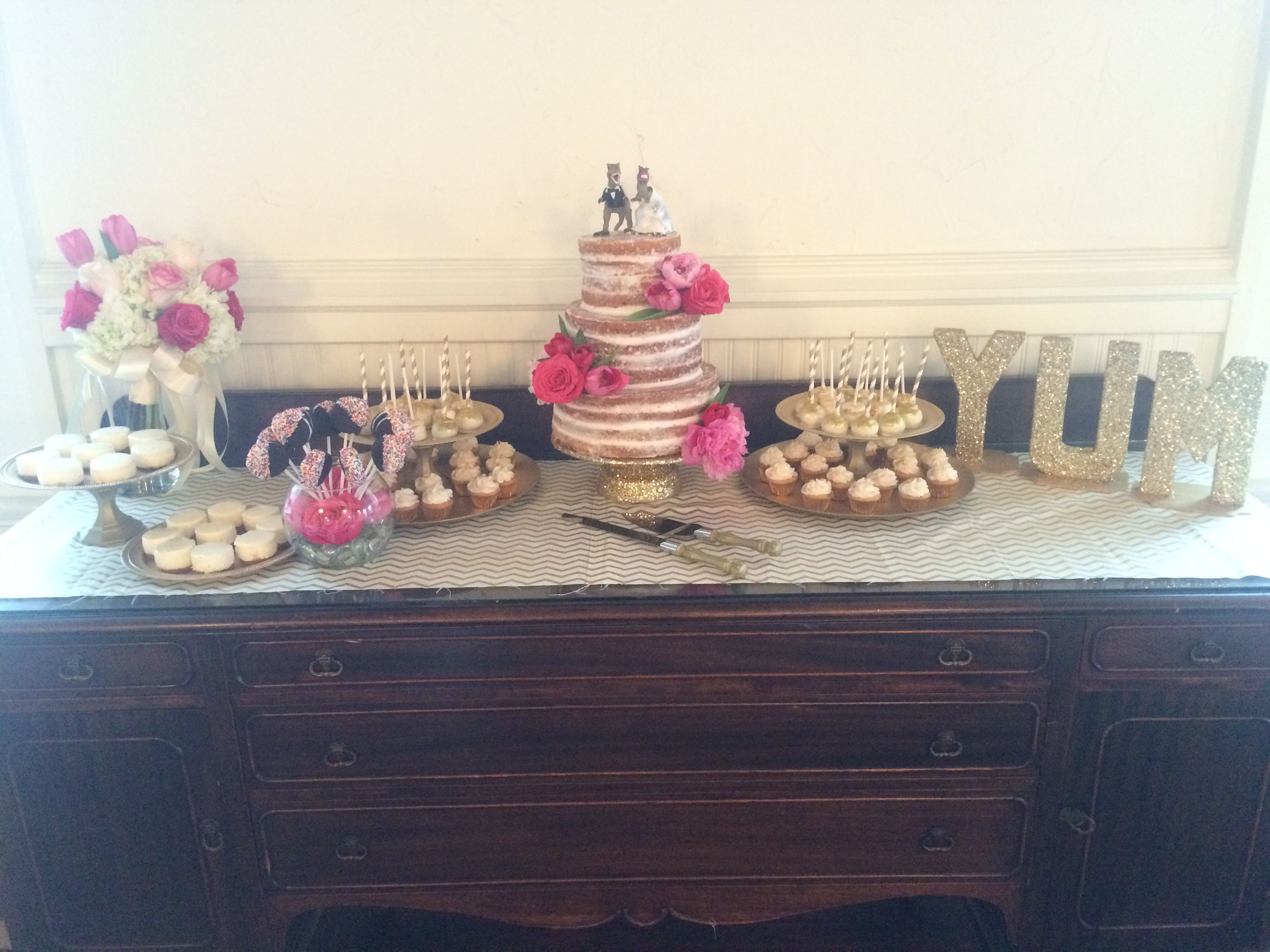 Dessert table by Sugar Fixx too!