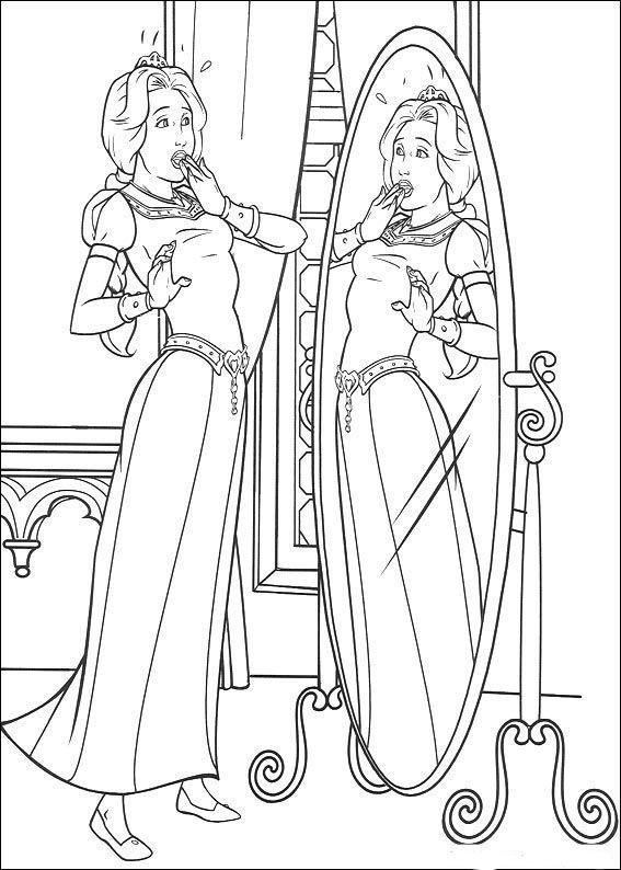 Shrek Tegninger Til Farvelaegning Printbare Farvelaegning For Born