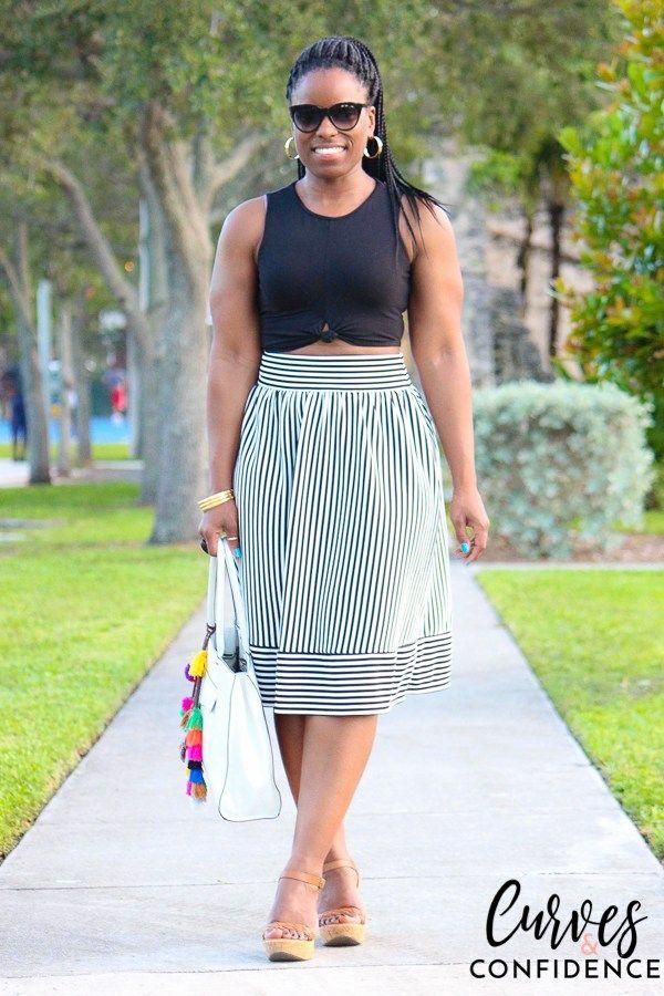 Weekend Wear: High Waist Skirt + Crop