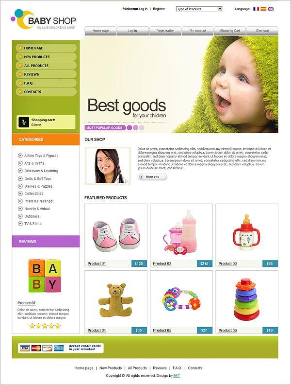 Free ecommerce website template   shopping cart   templateonweb.