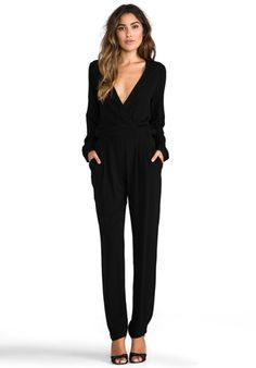 black and white long sleeve jumpsuit | Gommap Blog