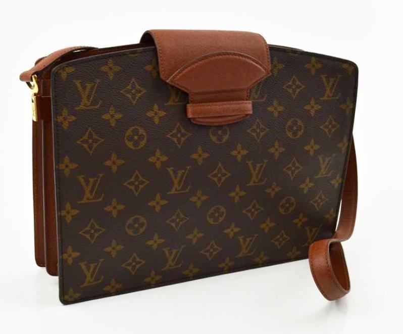 Vintage Louis Vuitton Monogram Courcelles Shoulder Bag 695 Louis Vuitton Louis Vuitton Monogram Vintage Louis Vuitton
