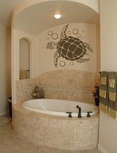 Sea turtle wall decal--I love this!! And Bivvi would be SO jealous!