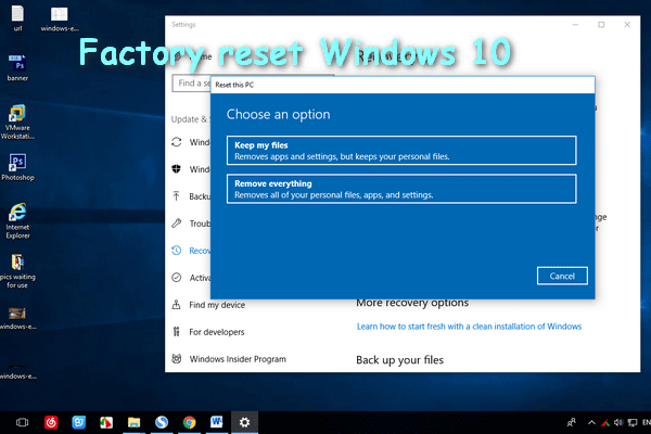 How To Factory Reset Windows 10 Full Guide Windows 10