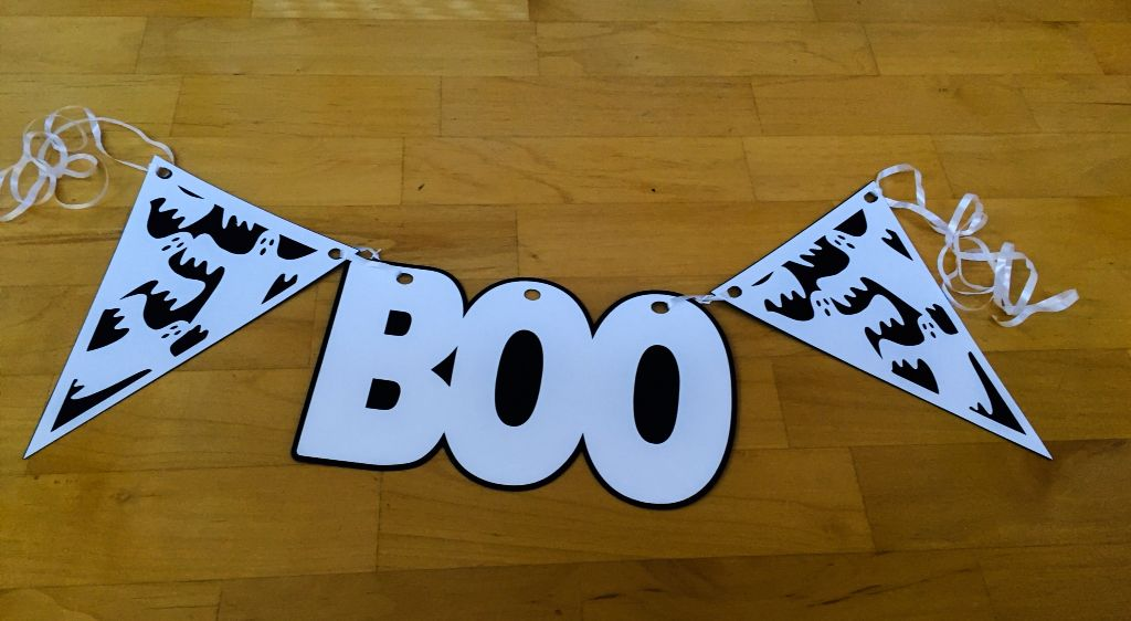 banner -Halloween-Boo, homemade