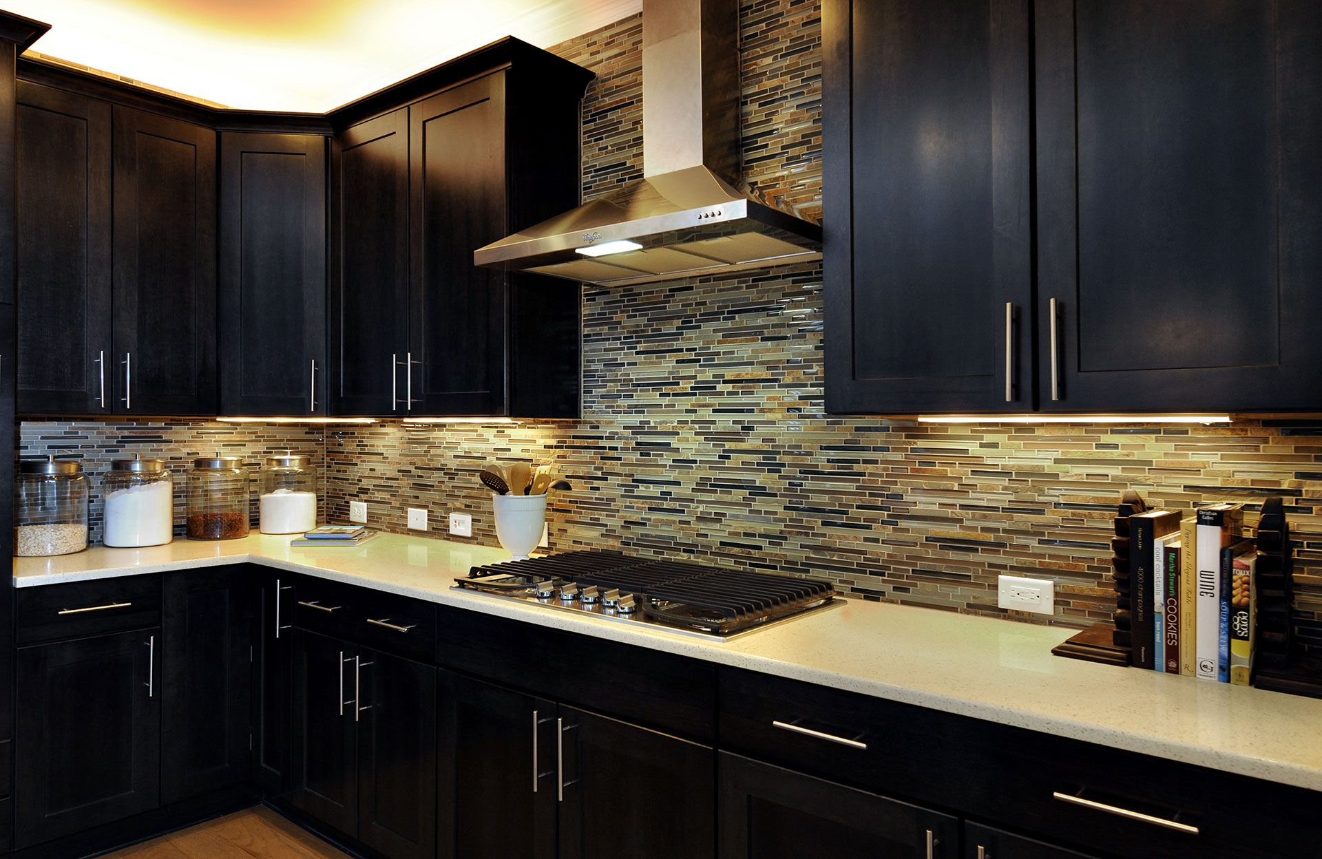 the bradley model kitchen with tiled backsplash raleigh nc