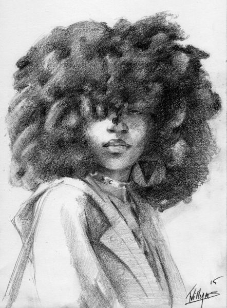 Black art + curly hair | Black art, Natural hair art