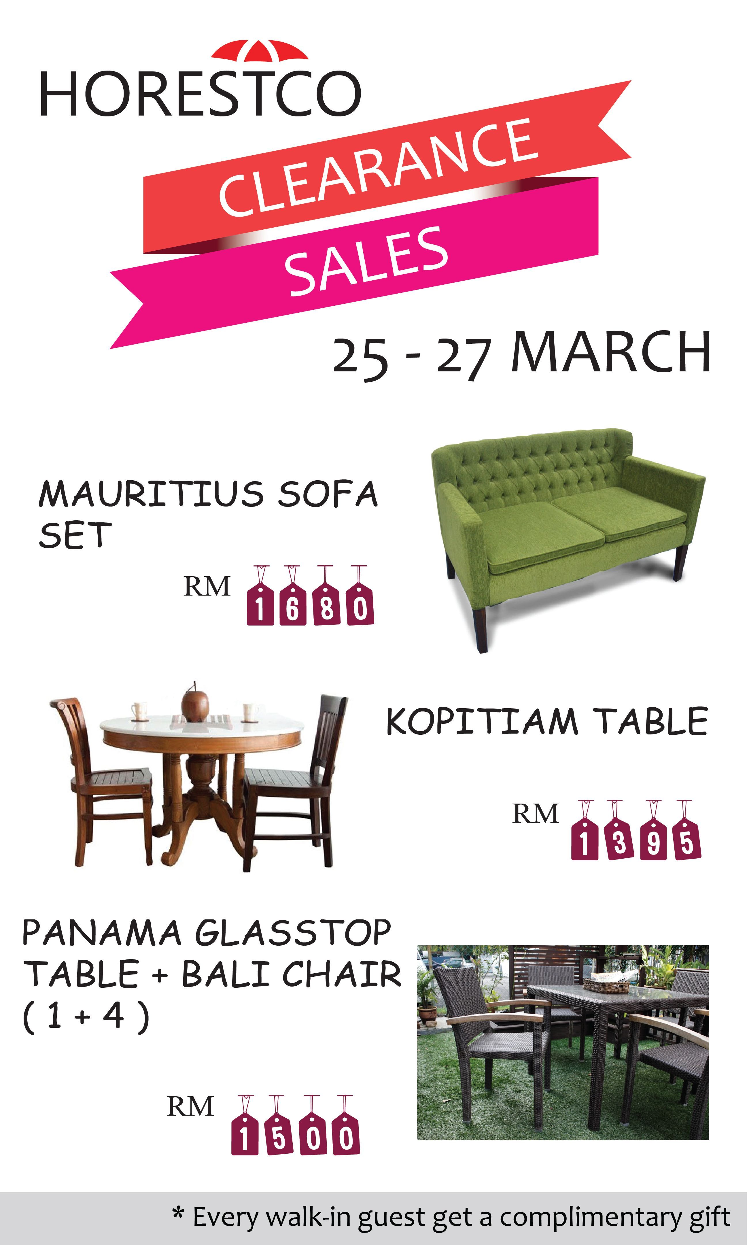Horestco Clearance Sale For Furniture Discounts In Malaysia